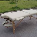 masaj masası ahşap bej renk