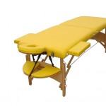 masaj masası ahşap sarı renk