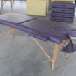Çanta Tipi Masaj Masası Ahşap Mor Renk No: 201