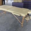 Çanta tipi masaj masası Bej ahşap yükseklik ayarlı No:201