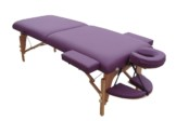 Çanta Tipi Masaj Masası (Ahşap) Katlanabilir Mor No:101